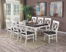 brown and white dining room mountain retreat brown and white extendable rectangular dining room set d601 10 d601 20
