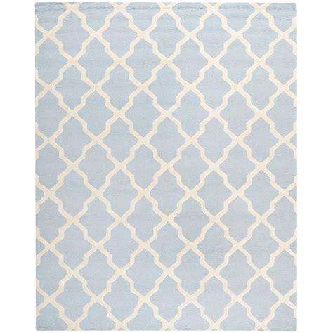 10 X 13 Blue Ivory Rug - safavieh cambridge light blue ivory 8 ft x 10 ft area