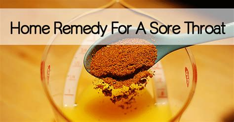 home remedy for a sore throat