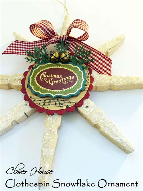 clothespin craft ideas for christmas hometalk clothespin snowflake ornament