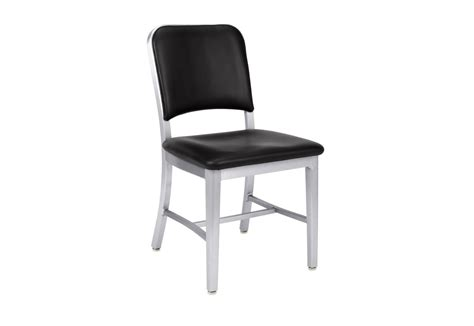emeco navy upholstered chair navy 174 chair 1002 upholstered by emeco stylepark