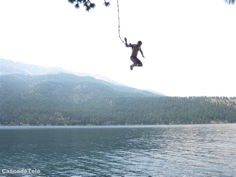 water rope swing rope swing eagle cap backcountry