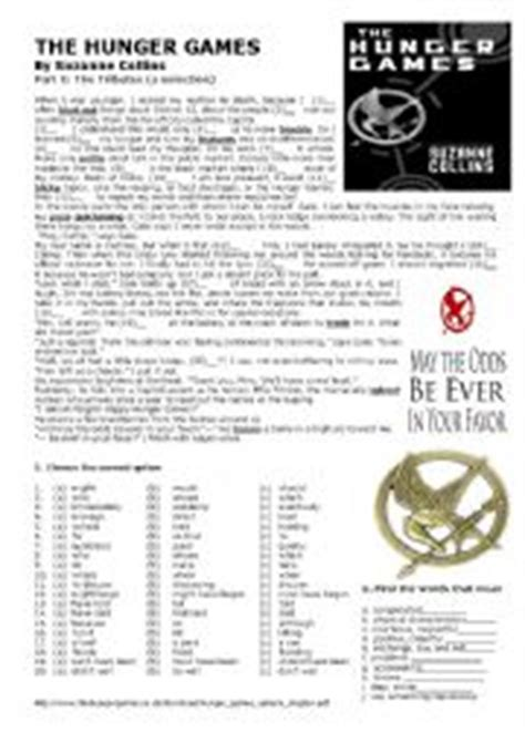 the hunger games themes worksheet answers english worksheets the hunger games