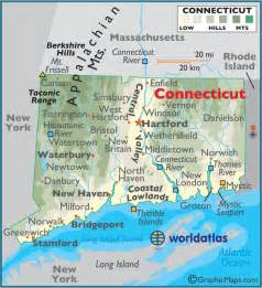 ct in us map connecticut outline map