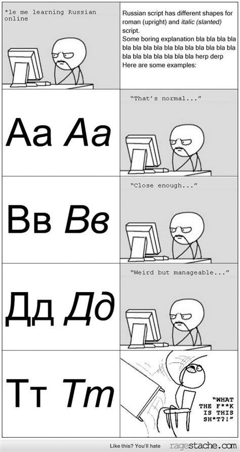 Russian Language Meme - in soviet russia language complicates you humour cute
