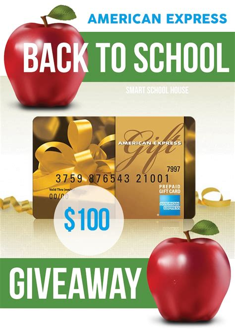 American Express Giveaway - back to school and saving money