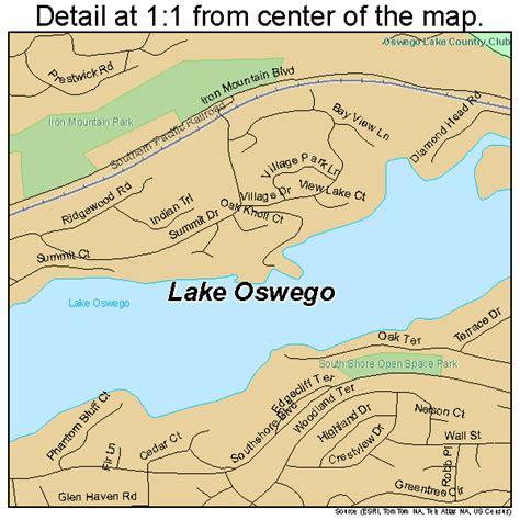 map of oregon lake oswego lake oswego oregon map 4140550