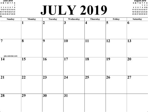 July 2019 Calendar Printable The July 2019 Calendar 3 Can Help You Make A Professional