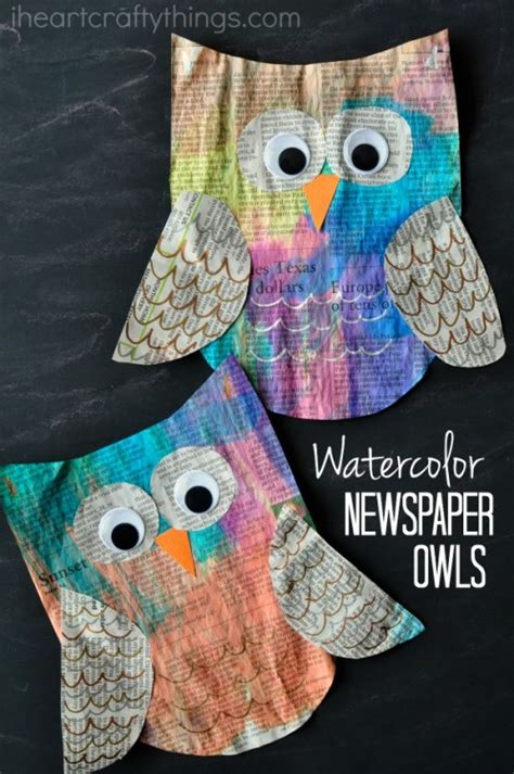 owl crafts for to make colorful newspaper owl craft for i crafty things