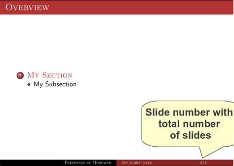 Beamer Theme Warsaw Slide Number | simple is everything slide number in warsaw theme of