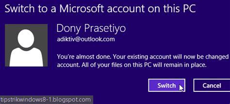 cara membuat akun microsoft windows 8 cara membuat akun microsoft dan mengganti user lokal ke