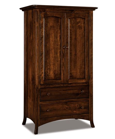 2 drawer armoire carlisle 2 piece 2 drawer armoire amish direct furniture