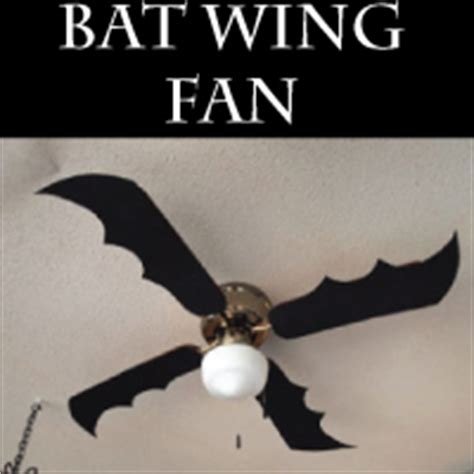 bat wing ceiling fan diy halloween decor bat wing fan