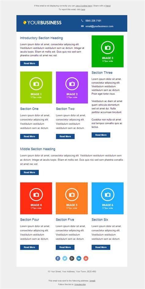 responsive email templates email marketing data