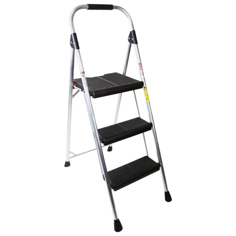 Werner 3 Step Aluminum Step Stool shop werner 3 step aluminum step stool at lowes