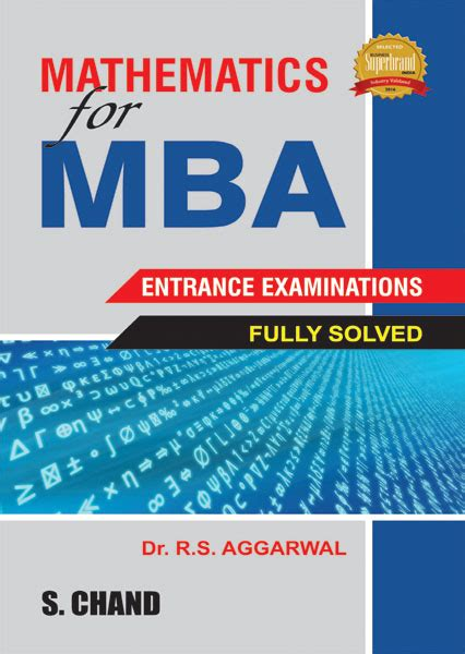 Pre Mba Math Books by Mathematics For Mba Entrance Exams By R S Aggarwal