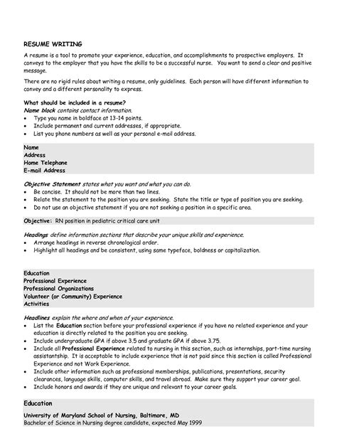 Objective For Nursing Resume by Rn Objective Statement For Resume Resume Ideas