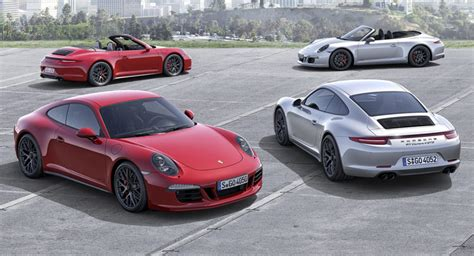 porsche 2015 models the new 2015 porsche 911 gts models all four of them w