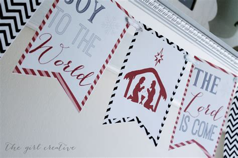 printable joy banner joy to the world banner free printable the girl creative