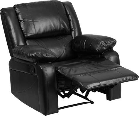 Small Black Leather Recliner Harmony Series Black Leather Recliner