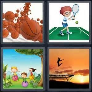 4 Letter Words Related To Basketball 4 pics 1 word answer for basketball tennis play