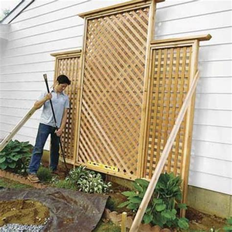 diy trellis plans cheap diy privacy fence ideas 3 wartaku net