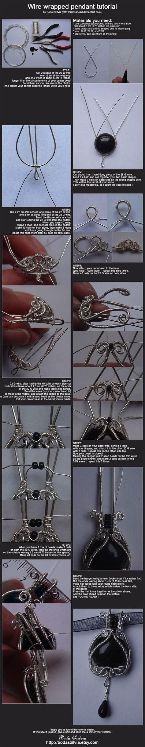 wire tutorial wire wrapped pendant tutorial handmade jewelry