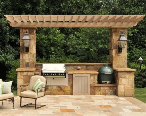 Travertine Tile Outdoor Kitchen by Travertine Outdoor Kitchens Mediterranean Patio