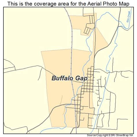 buffalo texas map aerial photography map of buffalo gap tx texas