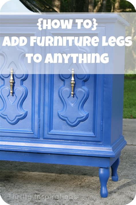 Adding Legs To A by How To Add Furniture Legs To Anything Home Decorating Diy