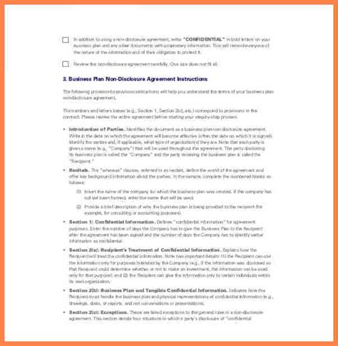 nda template for business plan 9 financial non disclosure agreement template purchase
