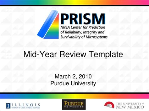 mid year review template ppt mid year review template march 2 2010 purdue