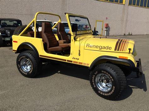 vintage jeep renegade classic cars gallery jeep cj7 renegade custom yellow