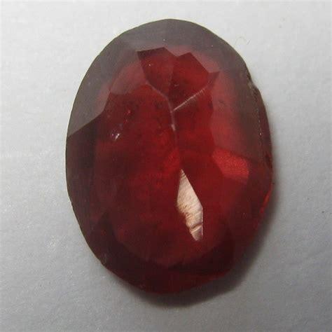 Merah Oval Cutting batu permata garnet merah oval 0 70 carat