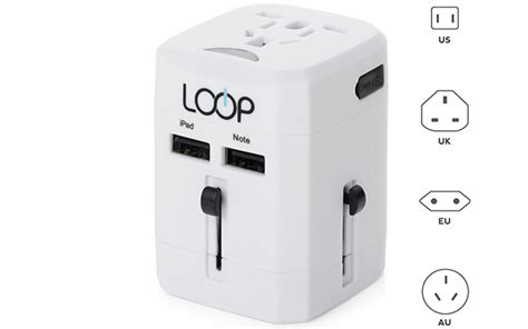 Loop Universal Travel Adapter 4 In 1 Us Uk Eu Au With Usb Port top 10 best travel power adapters of 2017 reviews pei magazine