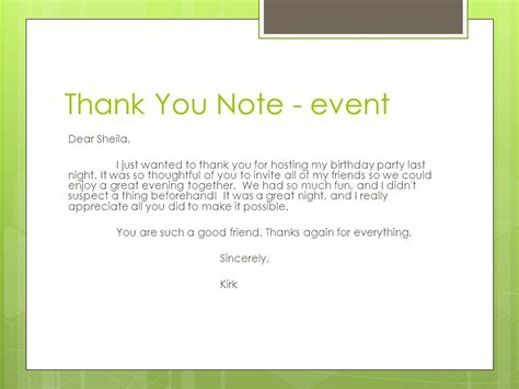 Letter For Hosting An Event Thank You Notes Reasons To Write A Thank You Note To Show Gratitude Ppt