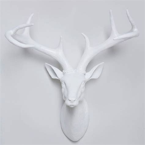 Stag Head Home Decor white large resin deer head stag wall hanging home decor