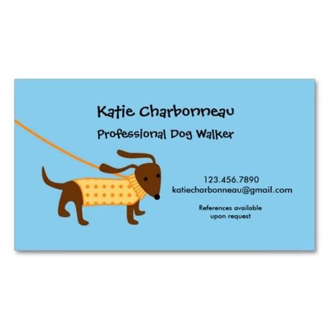 free business cards templates canine walker business card