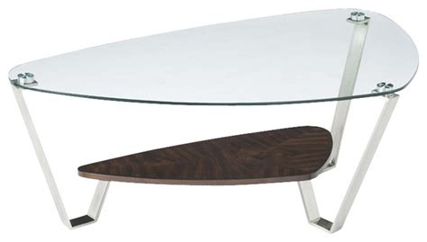 magnussen pollock cocktail table in brushed nickel and