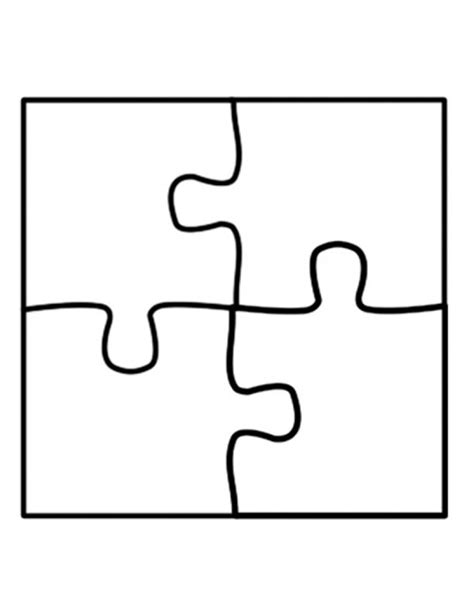 blank jigsaw template 4 jigsaw puzzle template clipart best