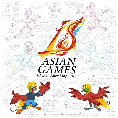 Ghamis Astika unnoficial mascot design asian 2018 papang kingdom