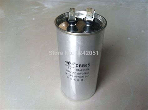 ac motor capacitor air conditioner compressor start capacitor cbb65 450vac 80uf in capacitors