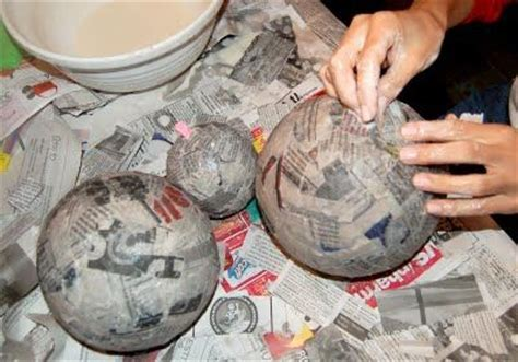 How To Make Paper Planets - papier mache planets