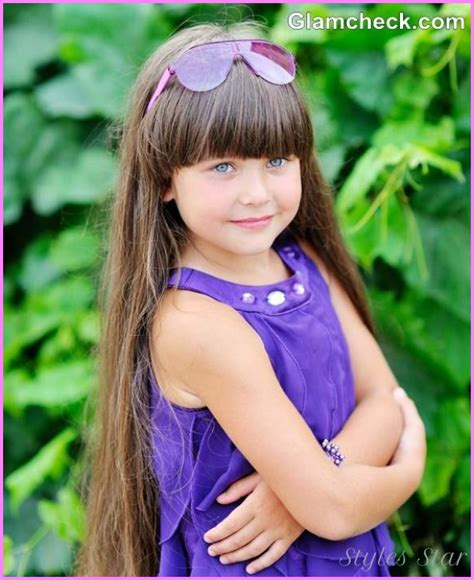 hairstyles for long hair little girl little girl long haircuts with bangs stylesstar com