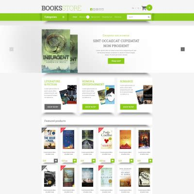 opencart bookstore template education books opencart templates templatemonster