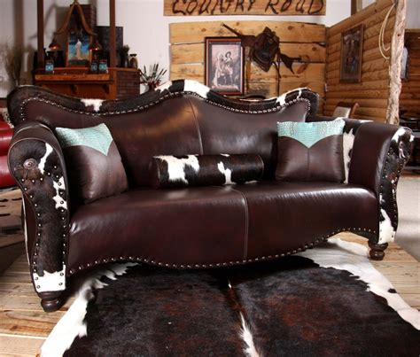 cowboy couch country road furniture 1900s world western sofa atg stores