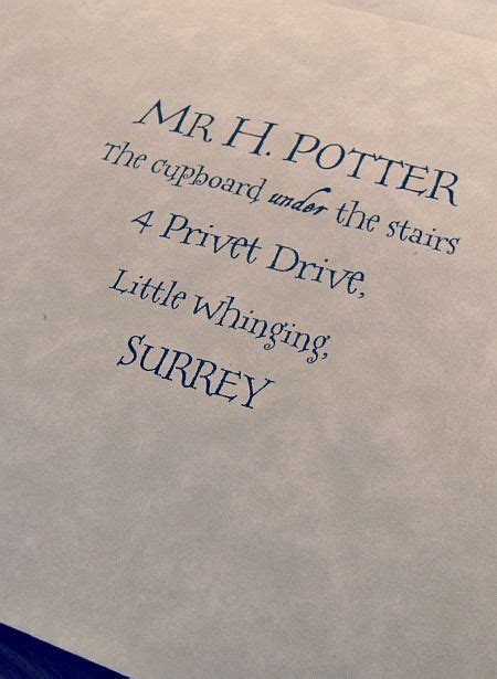 Harry Potter Letter Of Acceptance Font Pin By Ran On Crafts