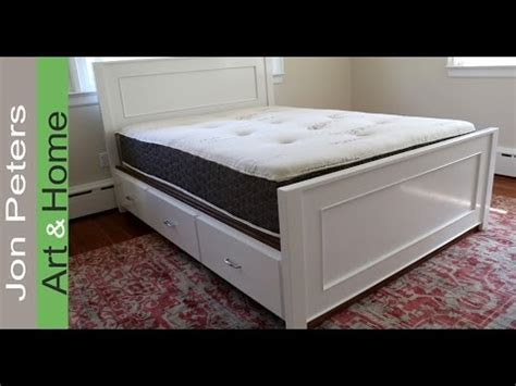build  platform storage bed  drawers youtube
