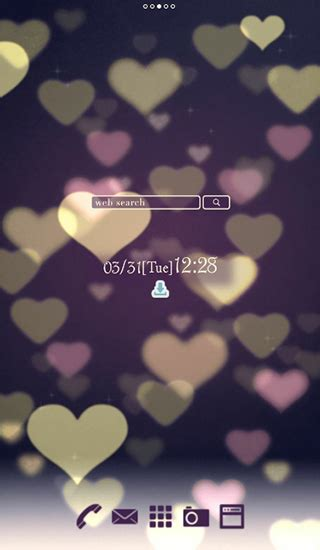 wallpaper android mob org cute wallpaper bokeh hearts live wallpaper for android