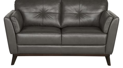gray leather loveseat 879 99 gabriele gray leather loveseat classic